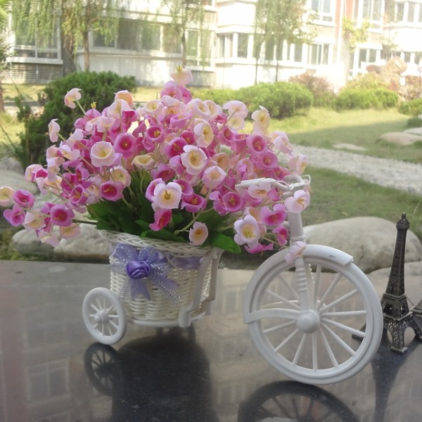 Modern fashion rattan quality floats vase orchid artificial flowers meters set home decoration gift(China (Mainland))