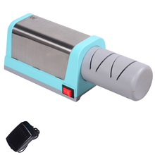 Professional 1pcs electric diamond knife sharpener high performance ceramic kitchen knife sharpener home kitchen tools hot sale(China)