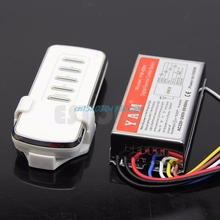 Switch Digital Remote Control Switch 4 Ways ON/OFF Controller For Light Lamp AC 220V #H028#(China)