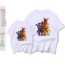 Cinco noches en Freddy 2 camiseta de los hombres de las mujeres de manga  corta Camiseta de verano Casual Tops ropa de niños . f780cf6ae59