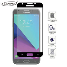 LEWEI New 2.5D Tempered Glass for Samsung Galaxy J3 2017 J3300 J3 Prime Emerge Full Curved Edge Screen Protector Cover Case(China)