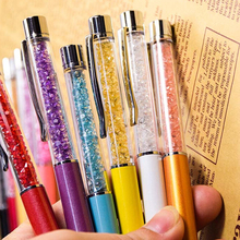 11 Colors New Design Diamond Ballpoint Pen Crystal Pens Stationery Ballpen Office School Promotion Gift Earrings Beads Nacklace