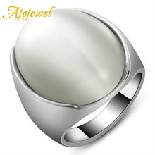 Ajojewel Size 7-10 Latest White Opal Big Stone Ring Jewelry For Men