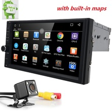 2Din Android6.0 Car Monitor GPS Universal Stereo Radio Player 7''Quad core steering wheel Bluetooth OBD2 DVR DTV DAB+rear camera