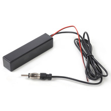 beler 1Pc New Black Universal Car Electronic Stereo Radio AM FM Hidden Amplified Antenna Kit for Boat Truck ATV for VW Audi Ford(China)