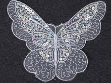 HOT Sequin Butterfly patches iron-on DIY sewing Sticker for clothing flower embroidered applique transfer clothes decor 1 pcs