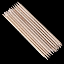 100 roots Nail Art Orange Wood Stick Cuticle Remover Pusher Manicure Pedicure Nursing Pencil Beauty Nail Tools
