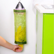 Wall Mount Grocery Bag Dispenser Plastic Recycle Bag Storage Organizer Container Holder