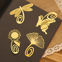 Korea stationery exquisite mini metal bookmark chinese style brief vintage classic 8 full set(China)