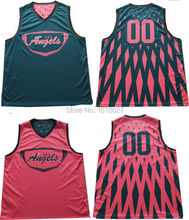 100%Polyester Coolmax Material Custom Design Home Basketball Uniforms