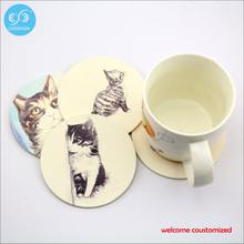 Absorbent paper coaster suppliers wholesale 2017 cheap & hot sale drink coaster placemat coasters custom design only(China)