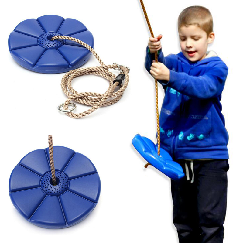 Octagonal swing children outdoor sports fitness equipment disk plastic Swing Chair Baby 360 degrees rotary swing<br>
