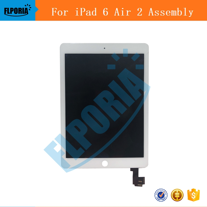 IPHT0222 A1567 A1566 LCD Digitizer Assembly For iPad Air 2 LCD Screen Assembly Display Digitizer Assembly Black White (4)
