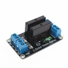Smart Electronics 2 Channel 5V DC Relay Module Solid State High Level OMRON SSR AVR DSP for Arduino Free Shipping