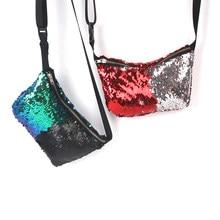 Yesello Women Reversible Sequins Mermaid Glitter Handbag Waist Packs  Evening Clutch Bag Wallet Purse Waist Bag 4fa4bd1e24e6