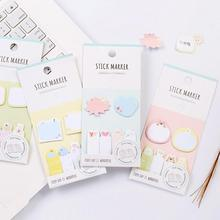 Novelty Animal Stick Marker Mini Memo Pad N Times Sticky Notes Escolar Papelaria School Supply Bookmark Post it Label(China)