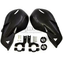 HG-002C-BK New Motorcycle Motocross Dirt Bike Handlebar handguards Hand Guards Fit Dirt Pit Bike OffRoad With Carbon fiber(China)