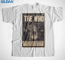 Best T Shirts Gildan Men'S Short Sleeve Graphic Crew Neck The Who Classic Rock Band Logo T Shirts