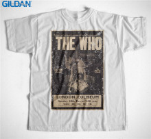 Best T Shirts Gildan Men'S Short Sleeve Graphic Crew Neck The Who Classic Rock Band Logo T Shirts(China)