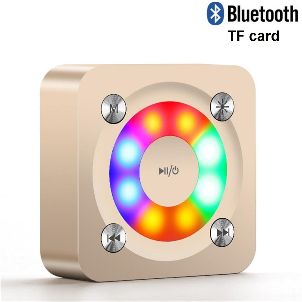 Metal Bluetooth Portable Speakers Wireless Outdoor Super Bass Subwoofer Mini Speaker Music MP3 for Smart Phone 2017 New Arrival