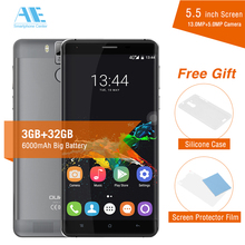 "Oukitel K6000 Pro 6000mAh Super Power Cellphone MTK6753 Octa Core Smartphone 5.5"" FHD Screen 3G RAM 32G ROM 4G LTE Mobile Phone(China)"