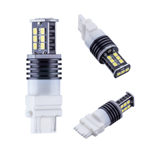 2pcs 3156 Led High Power Car led brake light T25-15smd-2835 bay15d rear lights(China)