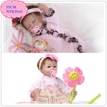 Buy 52cm 21inch NPK Brand Kawaii Reborn Baby Dolls Made 100% Safe Material Hot Sell Silicone Vinyl Baby Doll Best Hand Made Dolls