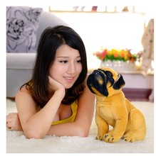 small cute Plush dog toy lovely Squating saks dog cute stuff doll gift about 25cm(China)