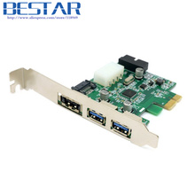 External 2 Port USB 3.0 & Power Over Esata & 19pin USB Header Combo Pci-e PCI Express Card adapter