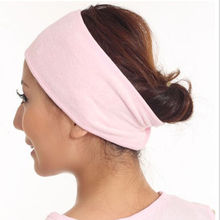 2017 New Arrilval promotion New Pink Spa Bath Shower Make Up Wash Face Cosmetic Headband Hair Band Accessories