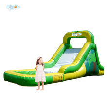 High Quality  PVC Commercial Inflatable Water Slide With Pool
