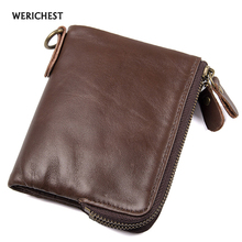 Buy RFID Wallet Antitheft Scanning Genuine Leather Wallet Hasp Leisure Men's Slim Wallet Men High Coin Purse 2017 New for $17.57 in AliExpress store