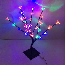 Multicolor 47 cm Height Holiday Cherry Flower tree light  32 LED Peach Flower Tree Light standing  tree light wedding decoration