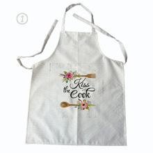 flower pattern men women linen & cotton kitchen cooking apron for couples cleaning aprons(China)