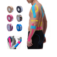 2.5cm x 5m Kinesiology Kinesio tape Roll Cotton Elastic Adhesive Sports Muscle patch Tape Bandage Physio Strain Injury Support(China)