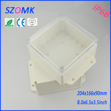10 pieces a lot ip68 weatherproof enclosure hinged 204*166*90 mm 8*6.5*3.5 inch(China)