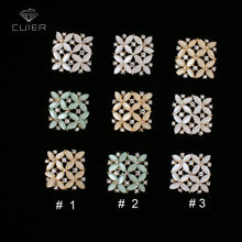 New colors Spring 50pcs 20mm Square Exquiste Metal Rhinestone Buttons Gold plating Garment Resin button for Clothing Accessories(China)
