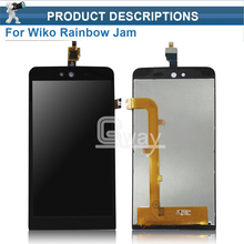 Original New For Wiko Rainbow Jam 5'' LCD Display + Digitizer touch Screen For Wiko Rainbow Jam 3G LCD Free Shipping