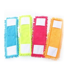 Floor Folding Flat Mop Easy Wash Head Coral Velvet Chenille Refill Microfibre Fabric Replacement Cloth(China)