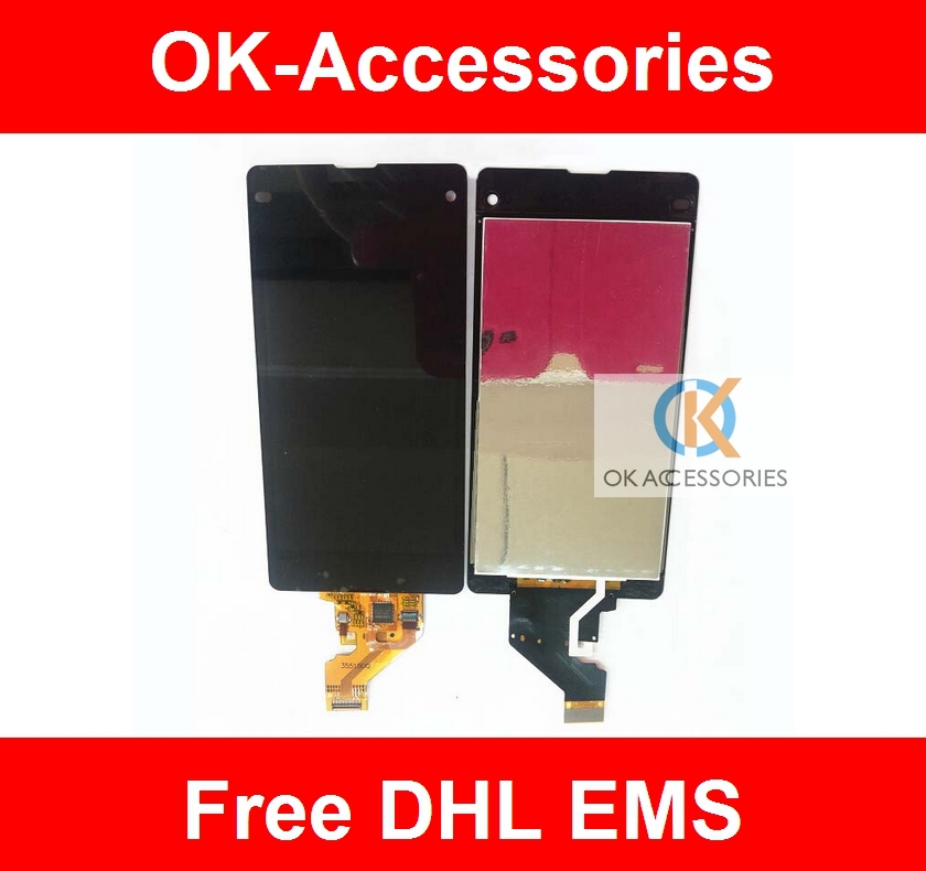 Black 100% Tested For Sony Xperia Z1 Compact Z1 Mini Z1c M51w D5503 Touch Screen+LCD Display Digitizer 10PCS /Lot<br><br>Aliexpress