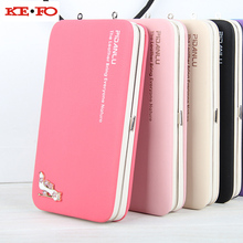 Women Wallet Purse Long Design Wallet Case Universal Cover For Motorola Moto G2 G3 G4 G5 G6 Plus X Style Z Force G4 Play Coque(China)