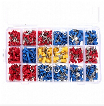 520pcs Insulated Terminals Crimp Connector Butt Spade Ring Fork Set<br>