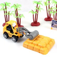 Mini Artificial Model Toy Car Construction Vehicle Engineering Car Machine Shop Truck Dump Truck Tractor Gift Toys for Children