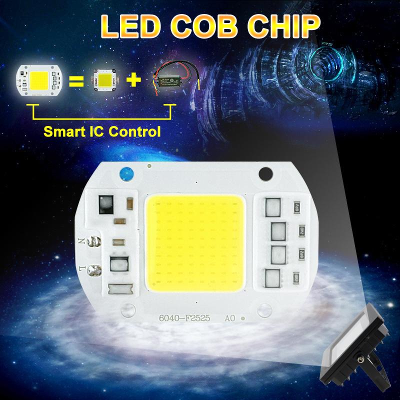 COB LED Lamp Chip 10W 15W W 30W 50W LED COB Bulb Lamp 2V IP65 Smart IC Driver Cold/ Warm White LED Spotlight Floodlight 1