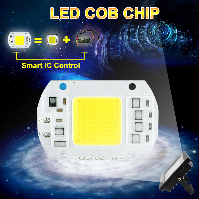 COB LED Lamp Chip 10W 15W W 30W 50W LED COB Bulb Lamp 2V IP65 Smart IC Driver Cold/ Warm White LED Spotlight Floodlight 1