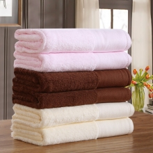 Cozzy 35 x 75 cm Hotel & Spa Hand Towel Plush Indian Combed Cotton Absorbent Wide Border Set of 6 (2 Pink + 2 Cream + 2 Brown)