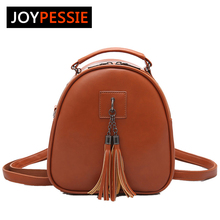 Joypessie Women's Leather Backpack mini Tassel backpack women PU back pack backpacks for teenage girls Rucksack Shoulder bag