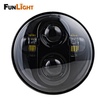 Funlight New Motorcycle Accessories 5.75 Inch Led Headlight Motorcycle For Harley Davidson Black Projector Daymaker