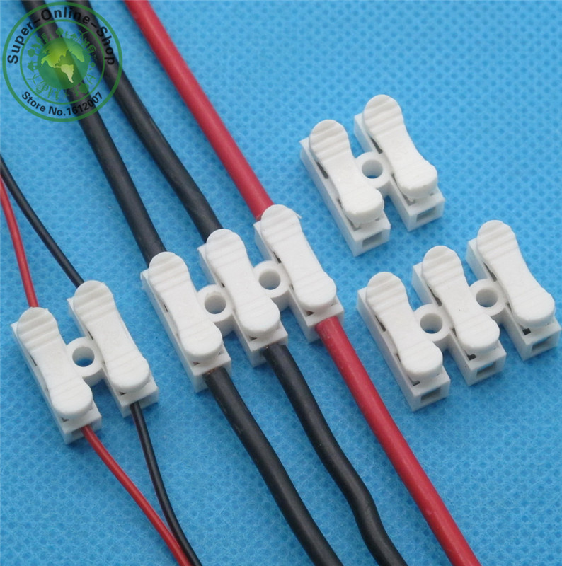 20PCS CH2 Quick Wire Connector Terminal Block Spring Connector LED Strip WQS