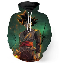Dragon Ball Z Jacket Super Saiyan droppshiping handsome printing head tide hooded male